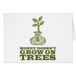 Geld wächst nicht auf Bäumen Karte