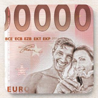 Geldgeschenk zur Hochzeit - 1-Mio-Euro Cocktail Untersetzer