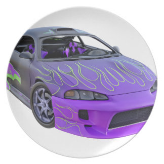 Geldstrafe abgestimmtes lila laufendes Auto Teller