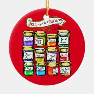 Gelee des Monats-Verein-lustigen Weihnachten Keramik Ornament