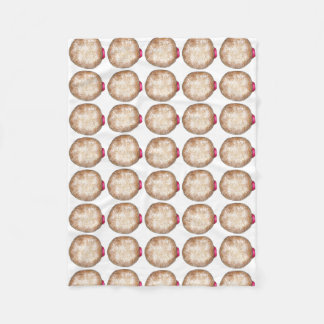 Gelee gefüllte Schaumgummiring-Krapfen Chanukka Fleecedecke