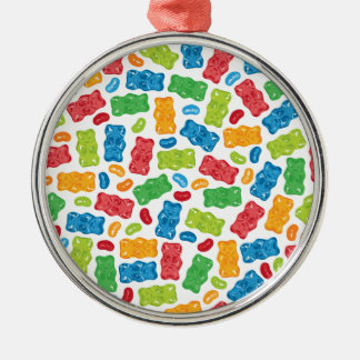 Geleebonbons u. gummiartiges Bärn-Muster Silbernes Ornament
