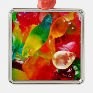 Geleegummi Silbernes Ornament