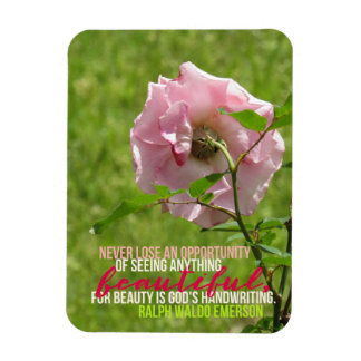 Gelegenheits-Rosa-Rosen-Magnet Ralph Waldo Emerson Magnet
