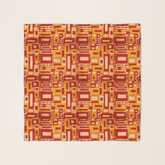 Gelegentliche geometrische Retro Kunst-Chiffon- Schal