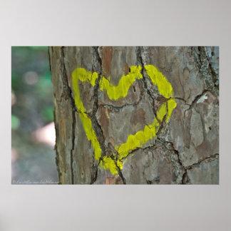 Gelegentliche Graffiti: Herz des Waldplakats Poster