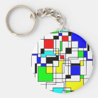 Gelegentliche Quadrat-Ehrerbietung zu Mondrian Schlüsselanhänger