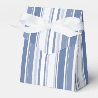 Gelegentliche Streifen-Muster-Schatten des Blaus Geschenkschachtel