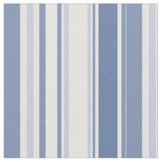 Gelegentliche Streifen-Muster-Schatten des Blaus Stoff