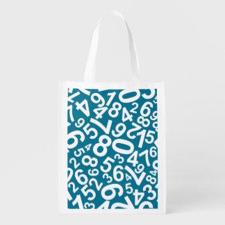 Gelegentliche Zahl-Muster Wiederverwendbare Einkaufstasche