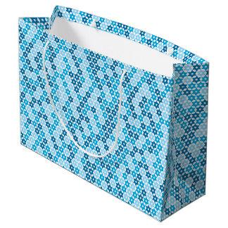 Gelegentlicher blauer Davidsstern Große Geschenktüte