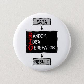 Gelegentlicher Ideen-Generator-(MANIPULIEREN Sie Runder Button 5,1 Cm
