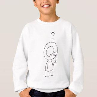 Gelegentlicher Neugier-Cartoon Sweatshirt
