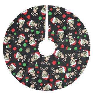 Gelegentlicher Zuckerschädel Sankt Polyester Weihnachtsbaumdecke