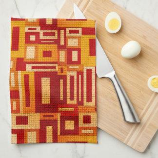 Gelegentliches geometrisches Retro Handtuch