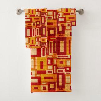 Gelegentliches geometrisches Retro moderne Kunst Badhandtuch Set