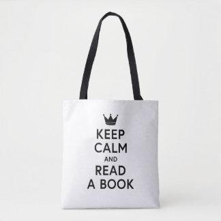 Gelehrt behalten Sie Ruhe und lesen Sie ein Buch Tasche