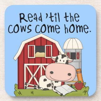 Gelesen 'bis die Kühe kommen Zuhause Untersetzer