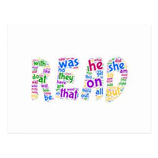 Gelesen!  Lernen Sie Ihre Anblickwörter! Postkarten
