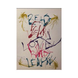 Gelesen lernen Sie Liebe-Wand-Kunst Leinwanddruck