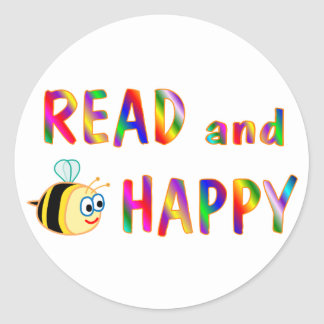 Gelesen und seien Sie glücklich Sticker
