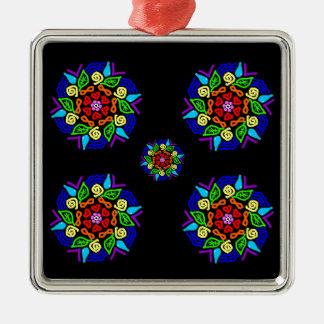 Geliebte Anwesenheit Quadratisches Silberfarbenes Ornament