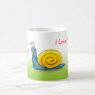 Geliebte Schnecke mit großem Herzen Kaffeetasse