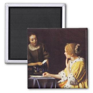 Geliebte und Mädchen Quadratischer Magnet