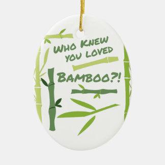 Geliebter Bambus Ovales Keramik Ornament