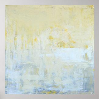"""""""Gelieferte"""" graue und gelbe abstrakte Kunst Poster"""