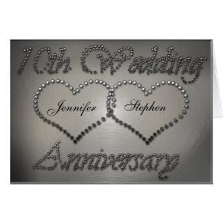 Gelochte Zinn-10. Hochzeitstag-Karte Grußkarte