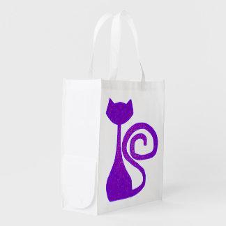 Gelockt-Schwanz Katzen-wiederverwendbare Taschen Wiederverwendbare Einkaufstasche