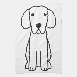 Gelockt-Überzogener Retriever-HundeCartoon Küchenhandtuch