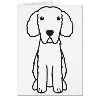 Gelockt-Überzogener Retriever-HundeCartoon Karte