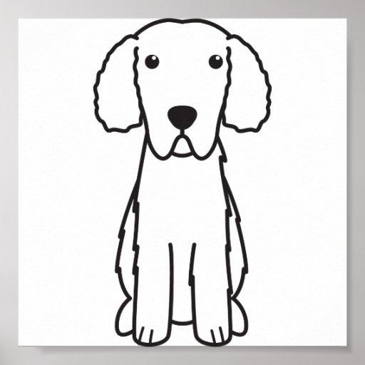 Gelockt-Überzogener Retriever-HundeCartoon Plakatdrucke