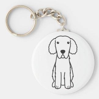 Gelockt-Überzogener Retriever-HundeCartoon Schlüsselanhänger