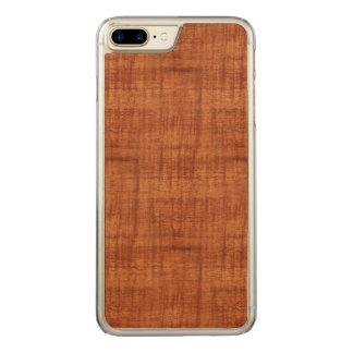 Gelockte Akazien-hölzerner Korn-Blick Carved iPhone 8 Plus/7 Plus Hülle
