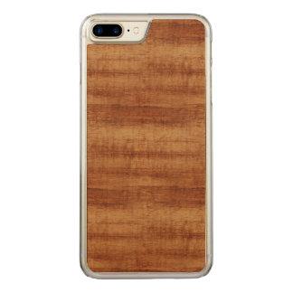 Gelockte Koa Akazien-hölzerner Korn-Blick Carved iPhone 8 Plus/7 Plus Hülle