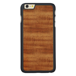 Gelockte Koa Akazien-hölzerner Korn-Blick Carved® Maple iPhone 6 Plus Hülle