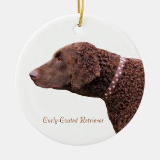 Gelockte überzogene Liebe-Herzverzierung des Retri Weihnachtsbaum Ornament