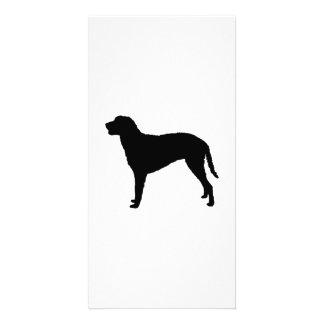 Gelockte überzogene RetrieverjagdhundSilhouette Individuelle Foto Karte