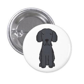Gelockter überzogener Retriever-HundeCartoon Button