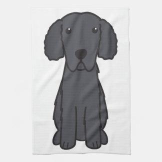 Gelockter überzogener Retriever-HundeCartoon Küchenhandtücher