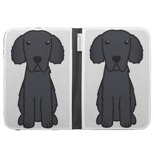 Gelockter überzogener Retriever-HundeCartoon
