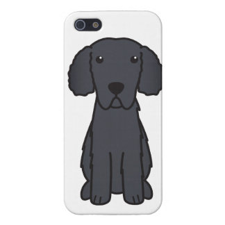 Gelockter überzogener Retriever-HundeCartoon iPhone 5 Hülle