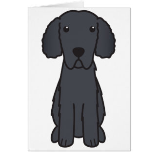 Gelockter überzogener Retriever-HundeCartoon Karten