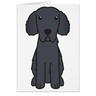 Gelockter überzogener Retriever-HundeCartoon Karte