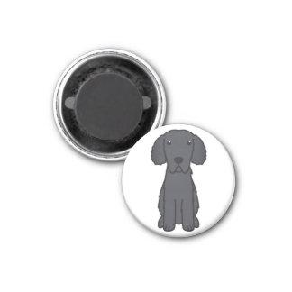 Gelockter überzogener Retriever-HundeCartoon Kühlschrankmagnete