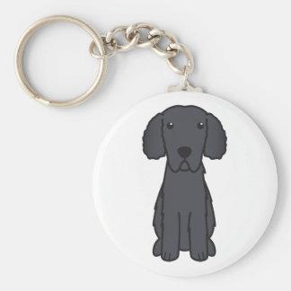 Gelockter überzogener Retriever-HundeCartoon Schlüsselband