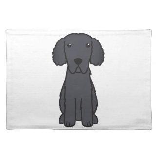 Gelockter überzogener Retriever-HundeCartoon Tisch Sets